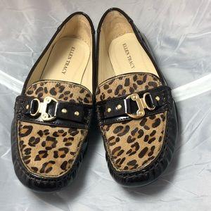 ELLEN TRACY leopard prints loafers